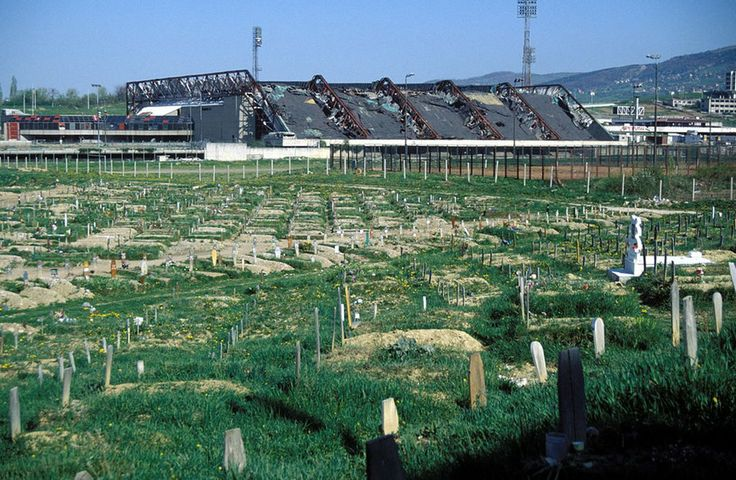 A graveyard in the 1984 Winter Olympics Sports Complex - Sarajevo's Abandoned Olympic Sites; Smithsonian