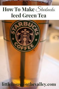 We love the Starbucks green ice tea recipe, and love the health benefits of green tea, but couldn't afford to get it from Starbucks all the time...
