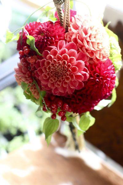 wedding bouquet ボールブーケ  和装