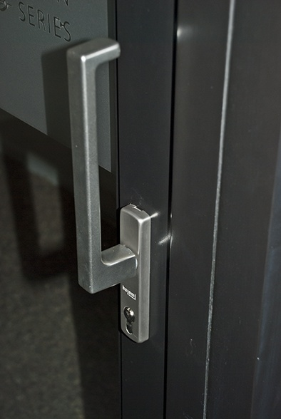 Architectural lift & slide handle for our Hajom range of doors. http://www.olsenuk.com/products/hajom-doors-windows