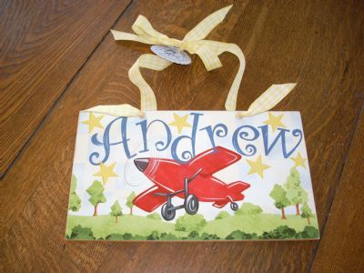 Personalized Hand Painted Nameplates Children S Wooden
