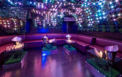 nightclub interior decoration 3d cocktail lounge bar night
