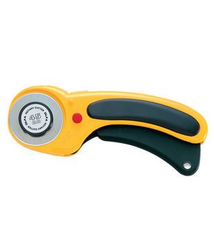 This is the only one that works with the pinking blade.  Olfa ® Deluxe Rotary Cutter 45mm