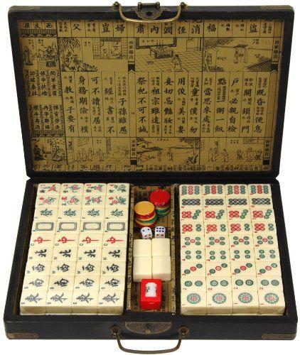 Black Lacquer Mahjong Set Box