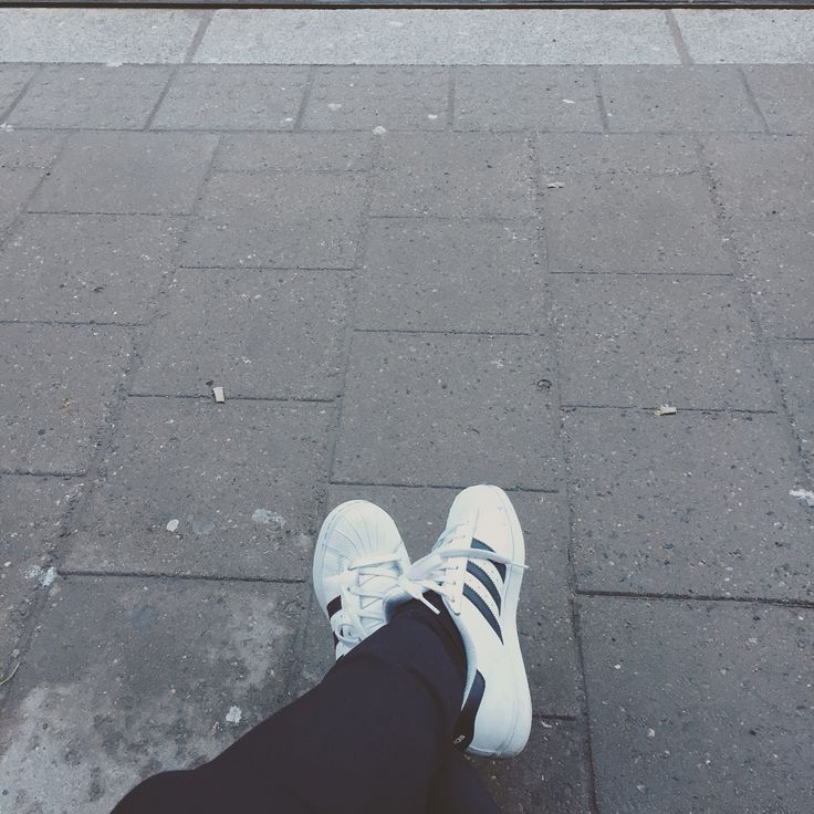 Adidas superstar! Love them, they match everything and look super stylish.