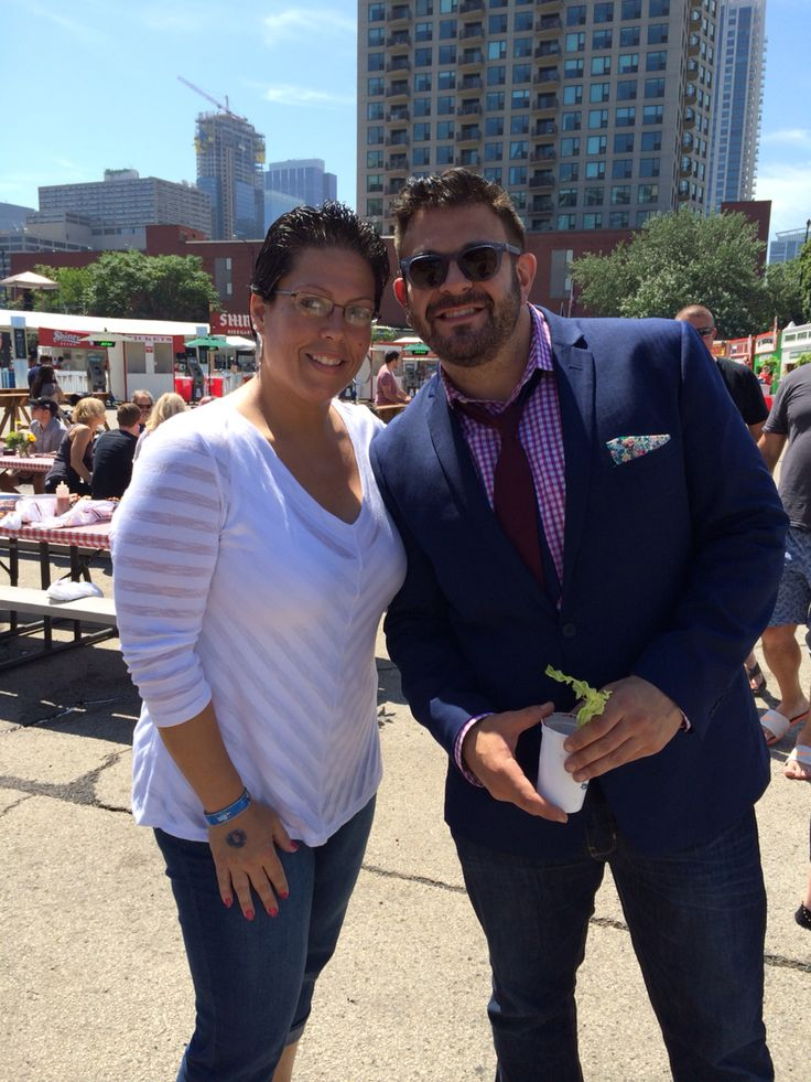 Me & Adam Richman at the Windy City Smoke-out. Chicago, July 12th 2015