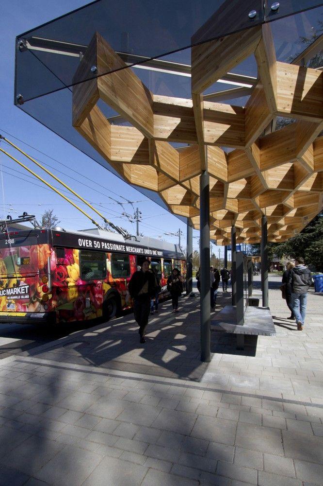 University Boulevard Transit Shelters, Vancouver, Canada by PUBLIC Architecture + Communication
