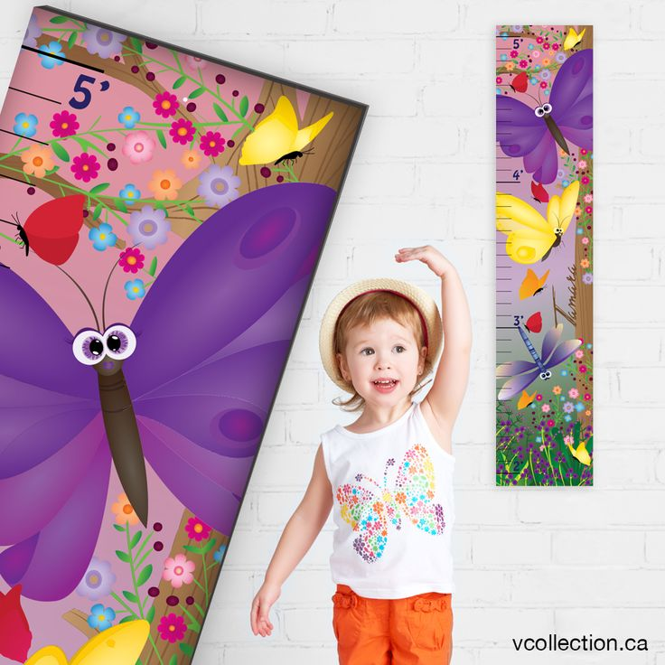 NEW DESIGN! Personalized Growth Chart at vcollection.ca