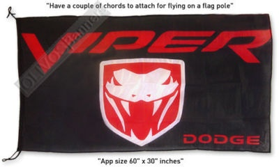 $14.99 GREAT New sign DODGE VIPER LOGO GTS banner flag 3x5ft