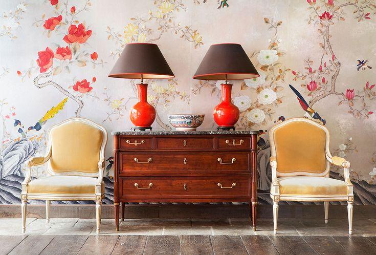 de Gournay: コレクション - 壁紙と織物 コレクション - 日本と韓国 コレクション  
