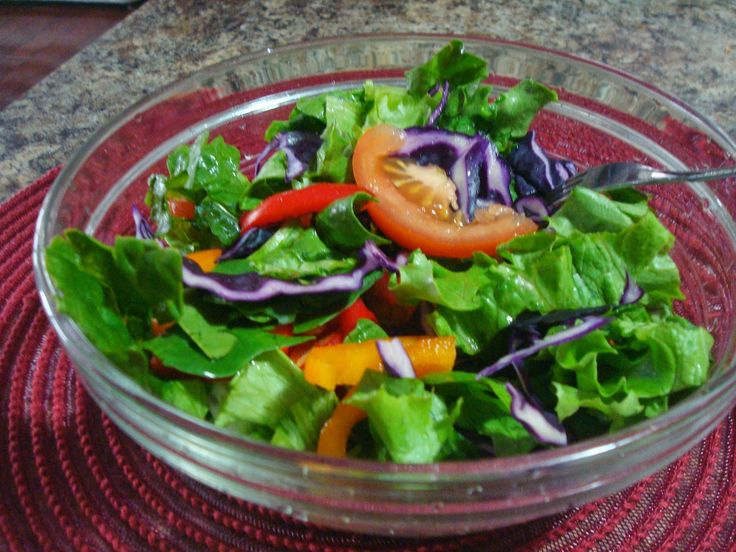 Spring Salad.  Enjoy this beautiful array of colours and be healthy at the same time.