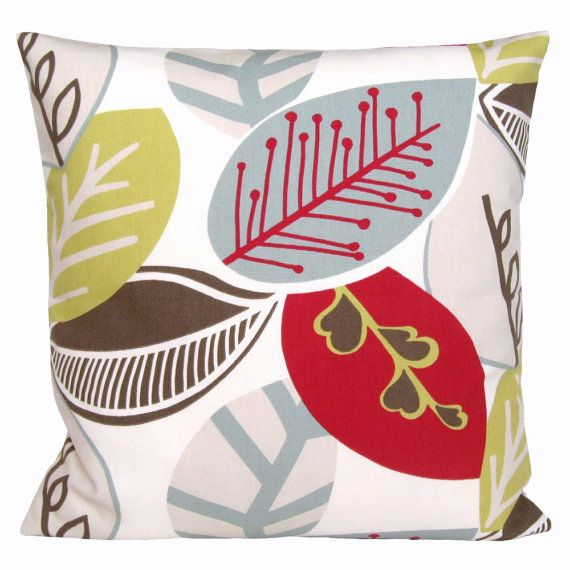 Modern Red Cushion Cover  16x16 Red Pillow Cover  by CoupleHome, $13.50