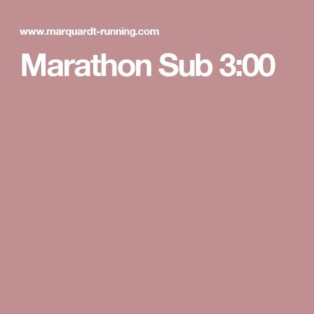 Marathon Sub 3:00