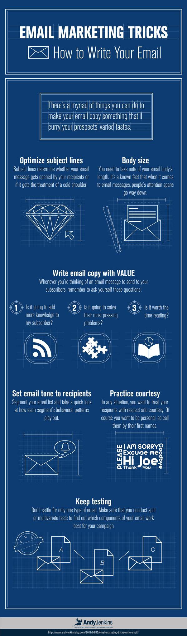 Infographie : Comment rédiger votre emailing ?