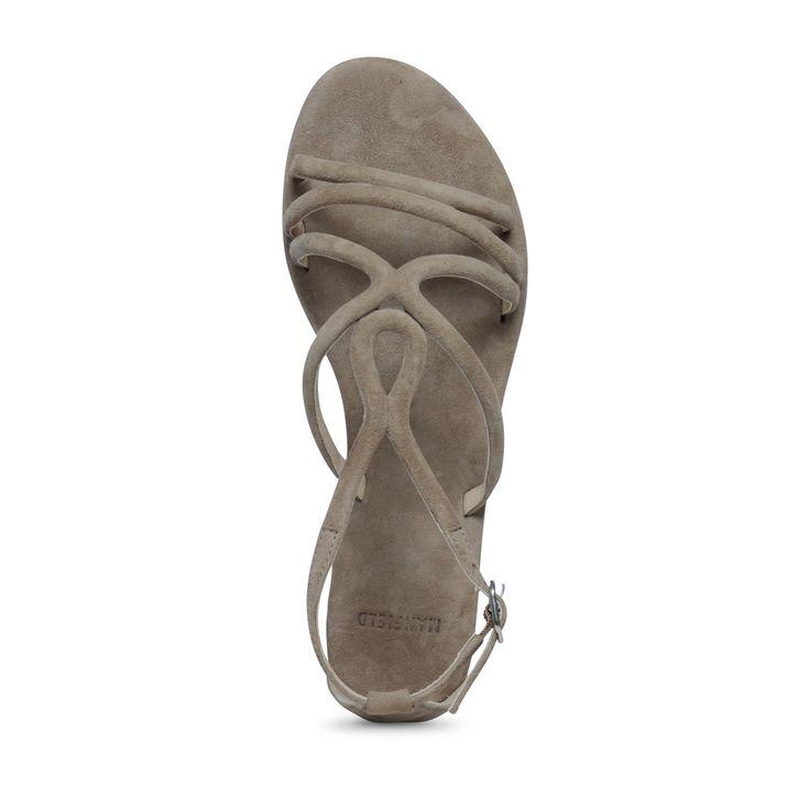Platte sandalen taupe | Dames  | MANFIELD