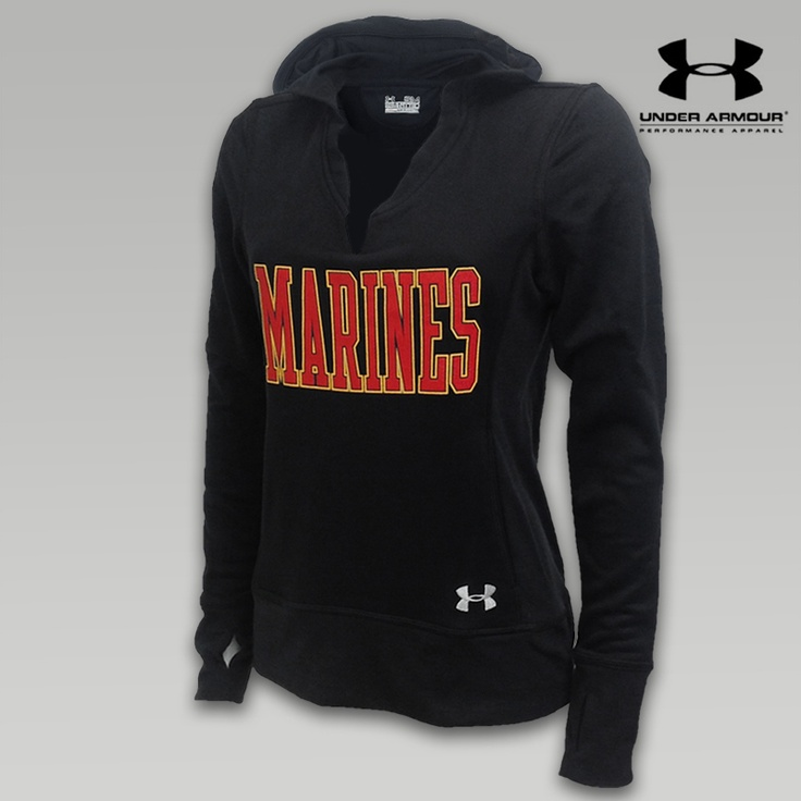 Under Armour Marines Womens Varsity Hooded Sweat - Black Item # UW1581999M. want