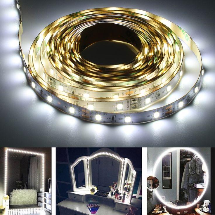 LED Makeup Mirror Strip Bar | Diy vanity lights, Diy ...