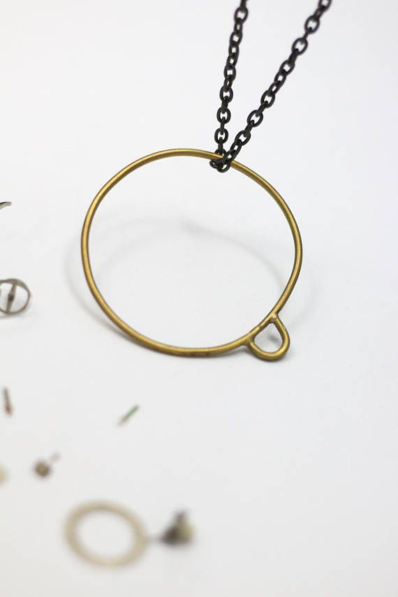 Bubble Necklace Circle Bubble Bracelet Minimalist Brass