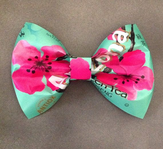 Arizona Green Tea Bow Large by ItCameFromHerBrain on Etsy, $15.00