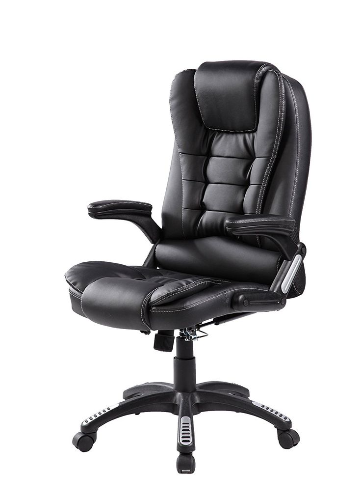 Merax Modern High Back Leather Executive Office Reclining Chair Napping  Chair