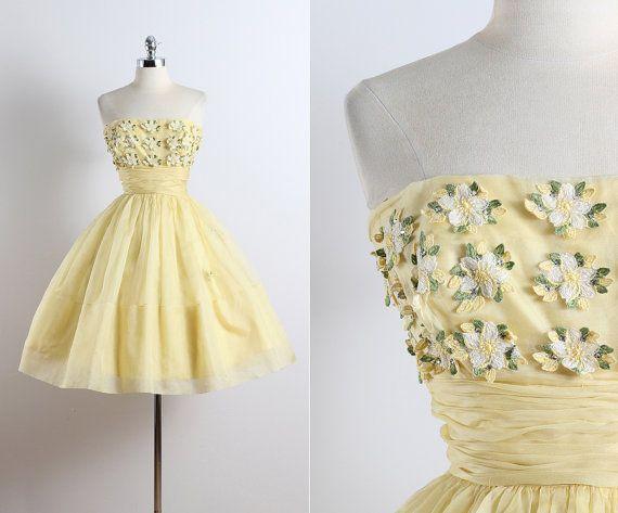 Ranuncolo. abito d'epoca del 1950. vestito da di millstreetvintage