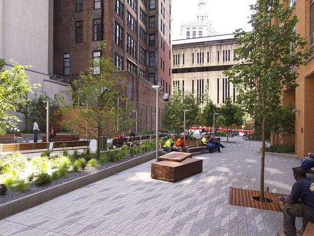 Beekman Plaza by Field Operations -- I like the customized paving