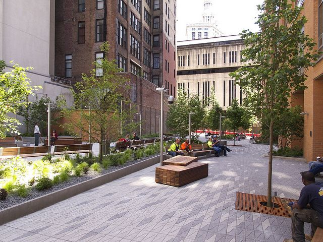 Beekman Plaza by Field Operations -- I like the customized paving