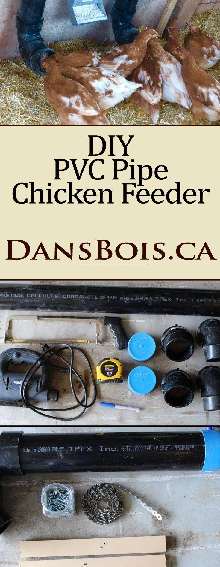 DIY PVC Chicken Feeders #Livestock #chickens #diy #backyardchickens