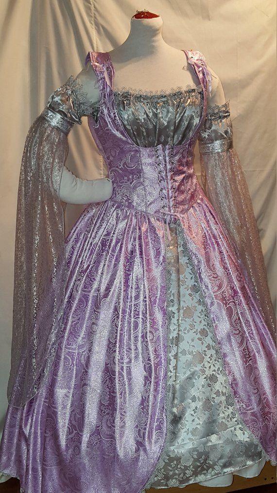 DDNJ Choose Fabric 5pc Reversible Pirate Skull Corset Style Bodice Costume Renaissance Plus Custom Made ANY Size Vampire Gypsy Dress Gown