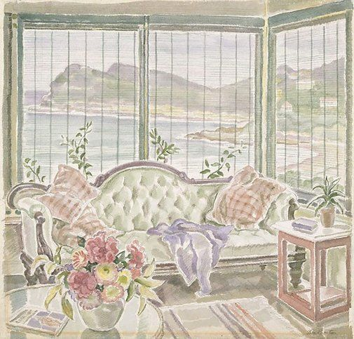 Thea Proctor (Australia 02 Oct 1879–29 Jul 1966) Title The bay Year (1942) Media category Watercolour Materials used pencil, watercolour on ivory laid paper