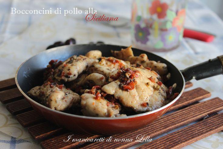 Bocconcini di pollo saporiti alla siciliana