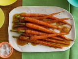 carrots, olive oil,salt and pepper, butter, orange zest, brown sugar, cumin,cinnamon (or for a little heat, instead of orange, cumin and cinnamon, use paprika. i like that better)