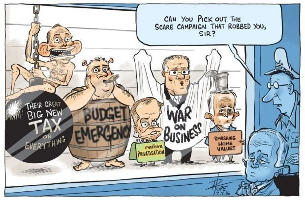 Can You Pick Out The Scare Campaign That Robbed You? | David Pope : australia