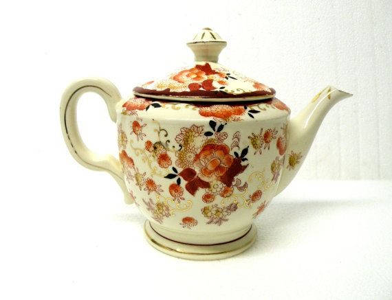 SOLD SOLD SOLD ON ETSY Oriental Tea Pot  Herb Tea Japanese Serving by UncommonRecycables, $29.00