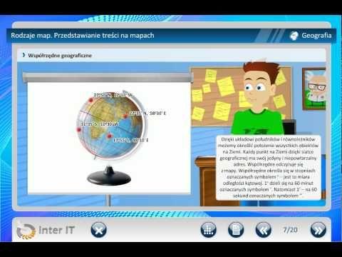 Geografia Rodzaje map Przedstawianie treści na mapach Wiedza - YouTube