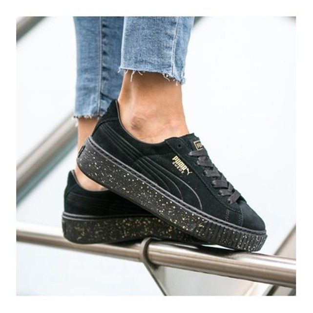 Baskets basses SUEDE PLATFORM SPECKLED | zapatos en 2019