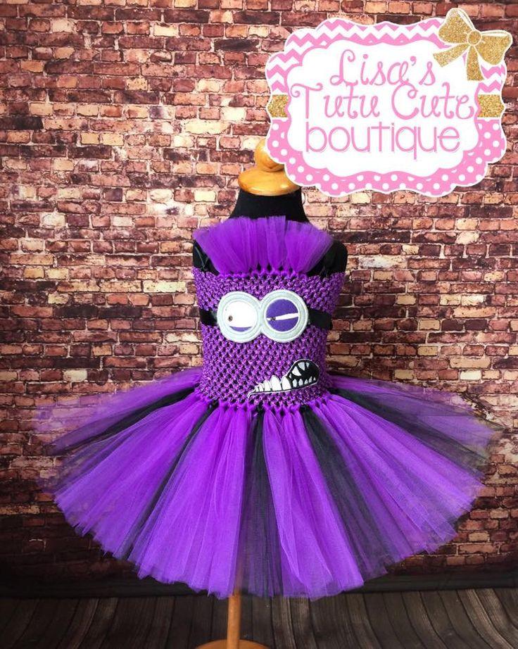 Evil minion tutu, Evil minion tutu dress, evil minion costume, evil minion dress, minion tutu, minion tutu dress, purple minion tutu by LisasTutus on Etsy https://www.etsy.com/listing/245224254/evil-minion-tutu-evil-minion-tutu-dress