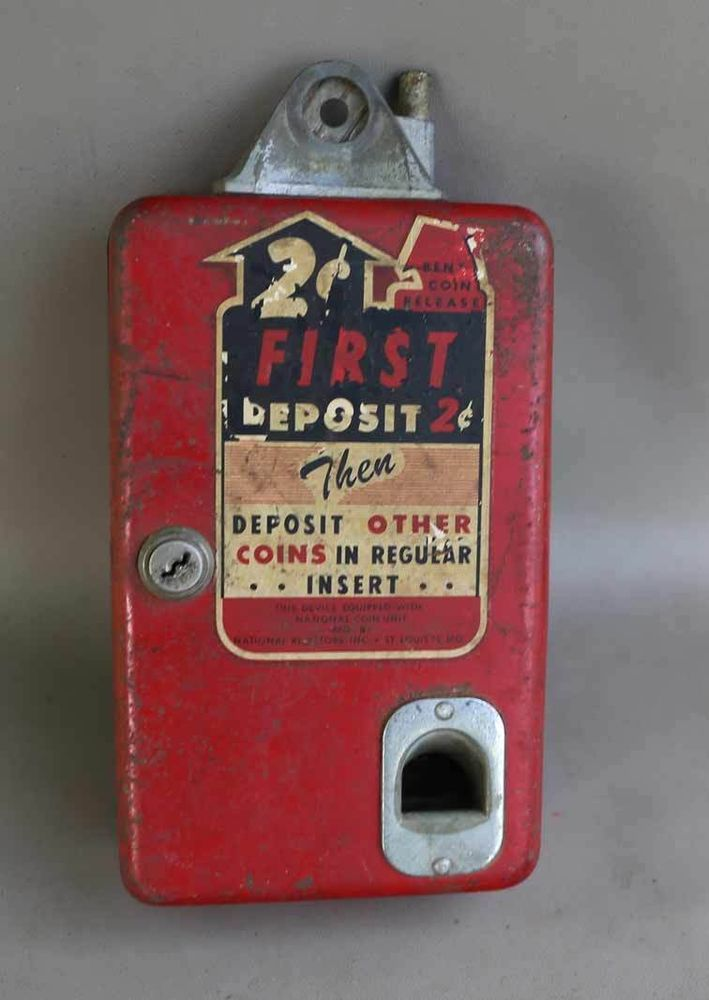 1950s Coin Operated 2c COKE MACHINE COIN CHANGER for Bottle Deposit coca cola in Collectibles, Banks, Registers & Vending, Vending Machines | eBay