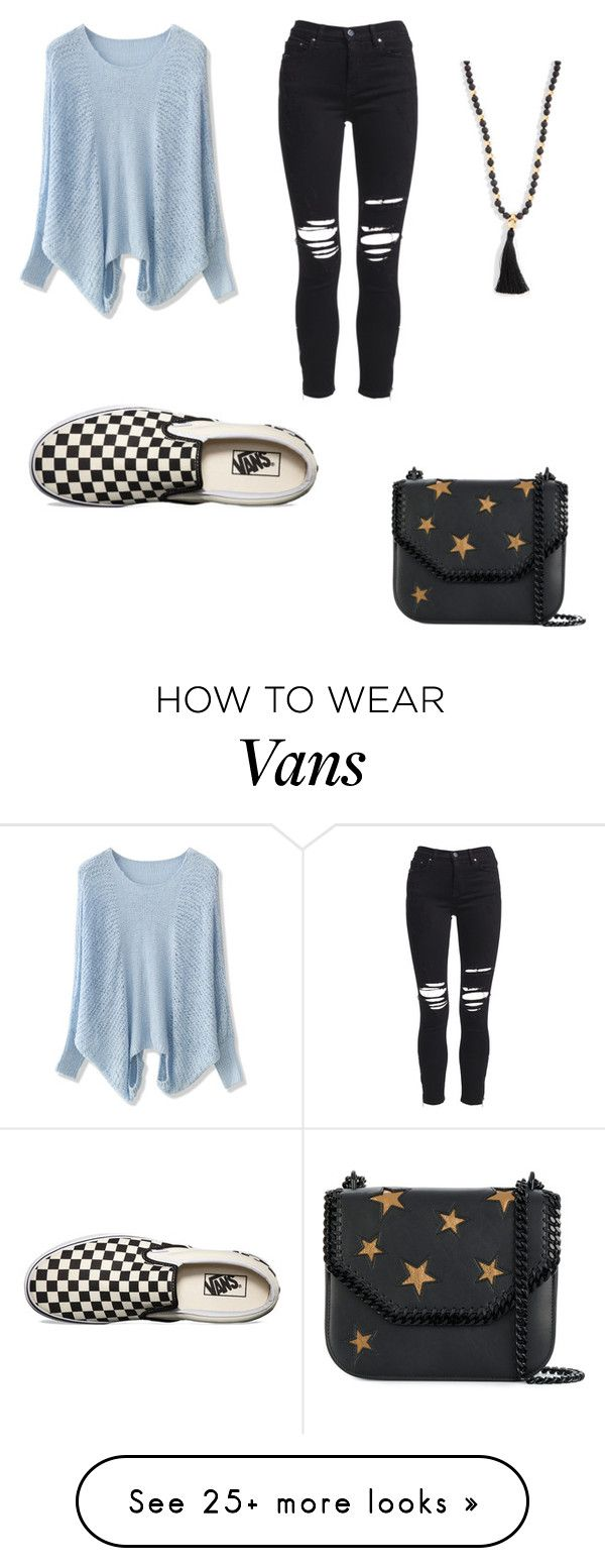 """Spring pastels"" by kelseytess on Polyvore featuring Chicwish, AMIRI, Vans, STELLA McCARTNEY, Gorjana and pastelsweaters"