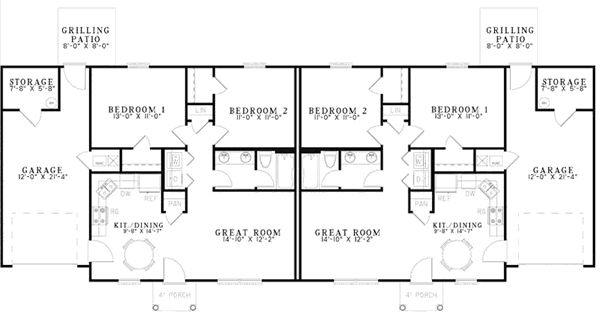 Best 25 duplex house plans ideas on pinterest duplex for Unique duplex plans