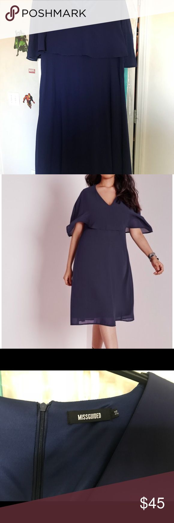 missguided navy plus size dress missguided navy plus size dress ASOS Curve Dresses Midi