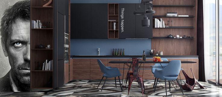 Apartament for Doctor H.... - Интерьер в современном стиле с Vitra | PINWIN - конкурсы для архитекторов, дизайнеров, декораторов