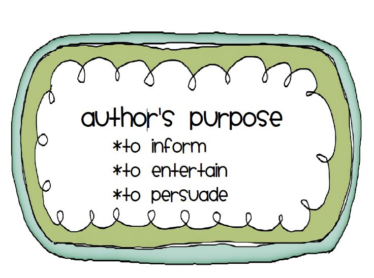 author's purpose clipart - OurClipart