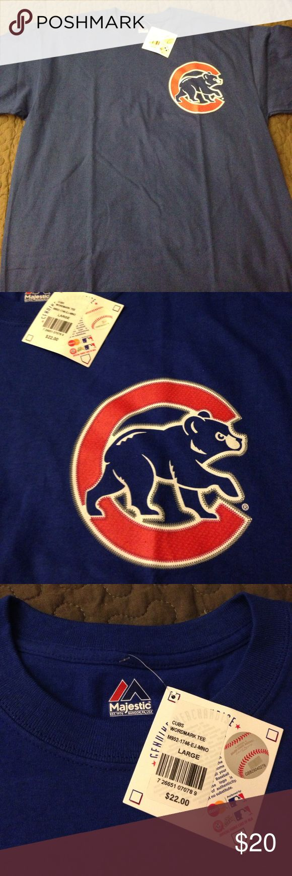Chicago cubs shirt Brand new Chicago Cubs blue shirt official merchandise of the Chicago Cubs bought it a few years ago never used it brand new with tags Majestic Shirts Tees - Short Sleeve