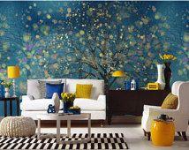 32 best images about tapeten on pinterest | vinyls, white trees ... - Schlafzimmer Blau Gold