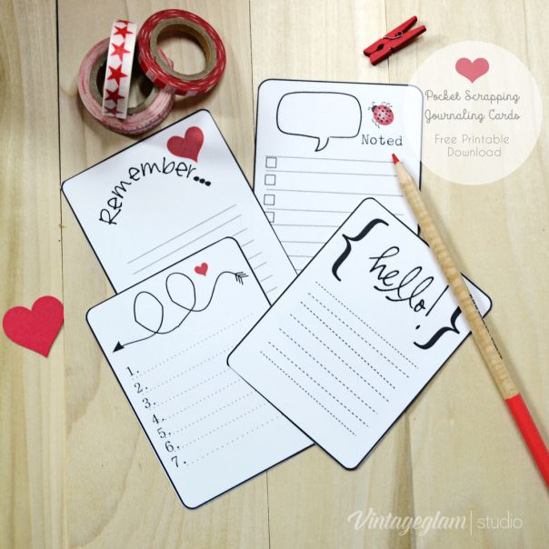 Superb Free Printable Download Whimsical Journaling Cards