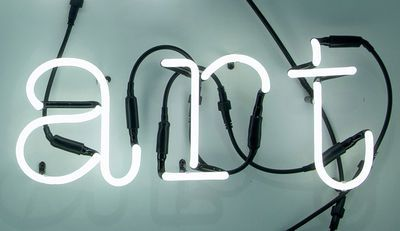 Wandleuchte Neon Art / ART - Komposition aus 3 Buchstaben, ART / Weiß von Seletti finden Sie bei Made In Design, Ihrem Online Shop für Designermöbel, Leuchten und Dekoration.