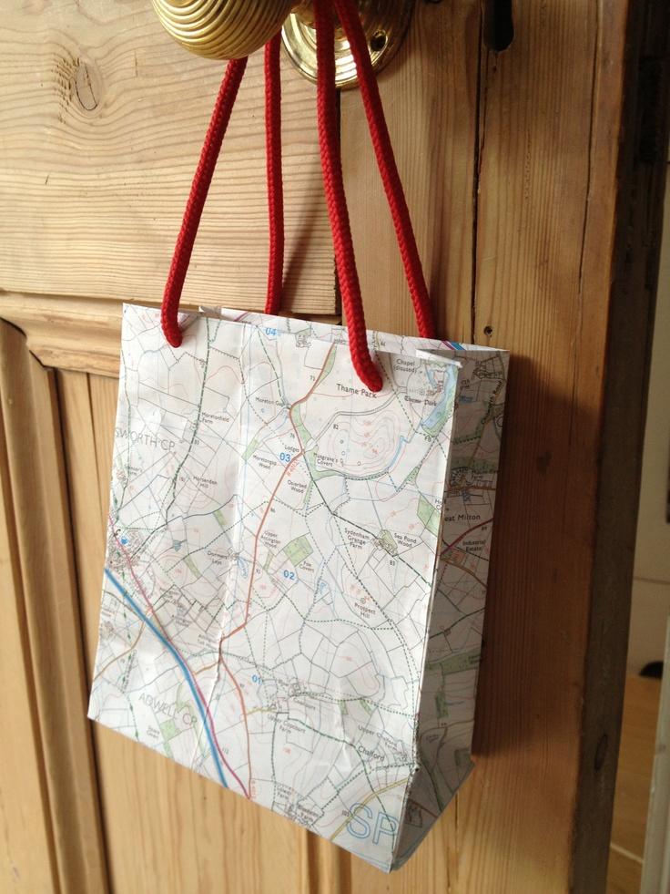 OS map gift bag