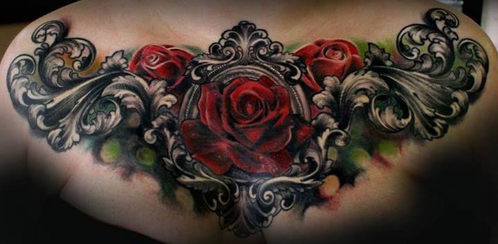 gothic style  rose tat...