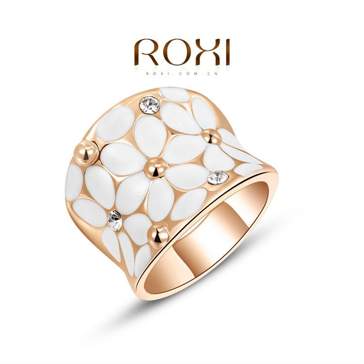 Roxi Exqui Gold Classic Plated Women Ring Austrian Crystal Nickeless Rings Fashion Jewelry Birthday Weedings Gifts 1